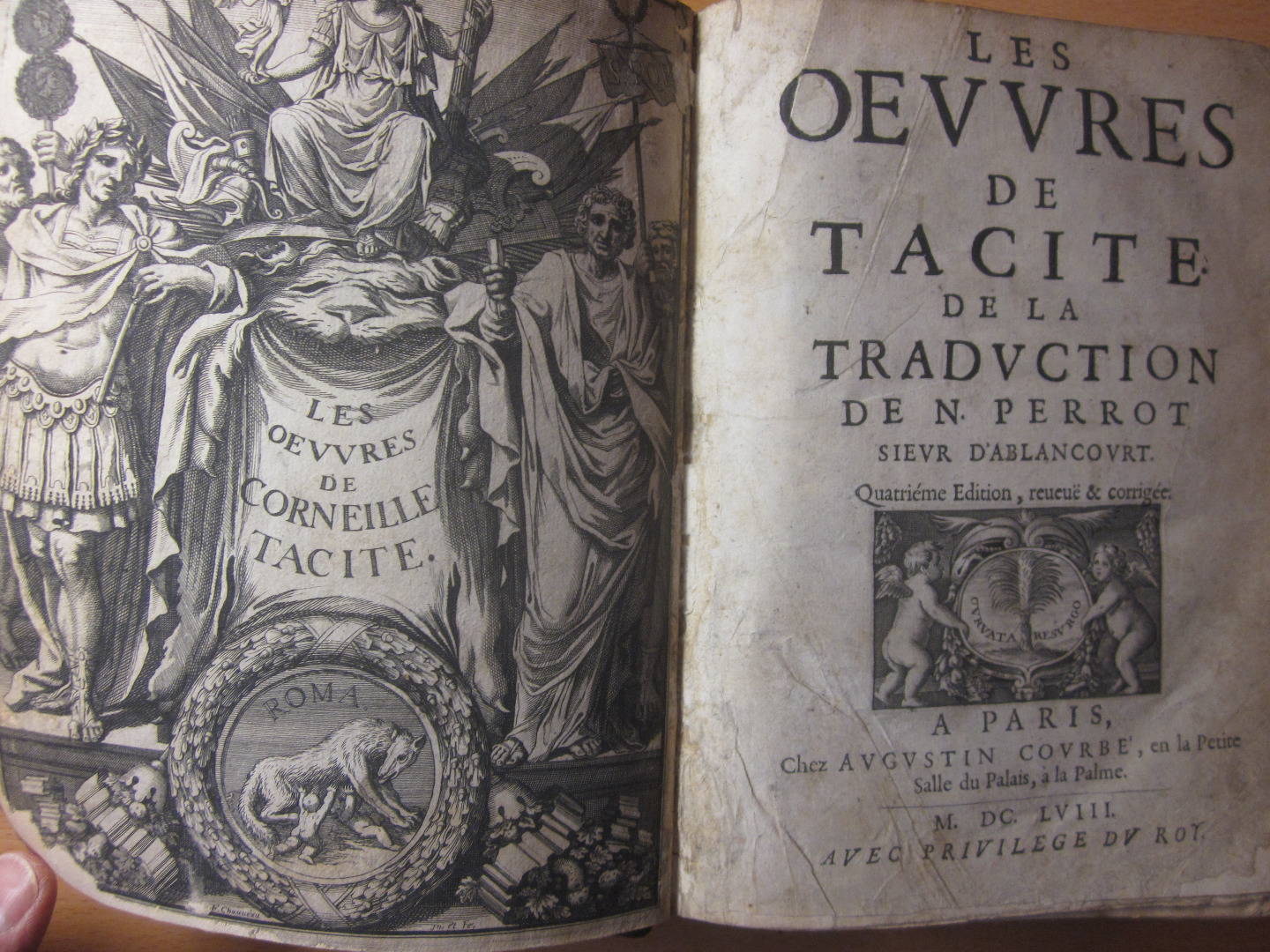Fourth Edition of the work of Tacite 1658