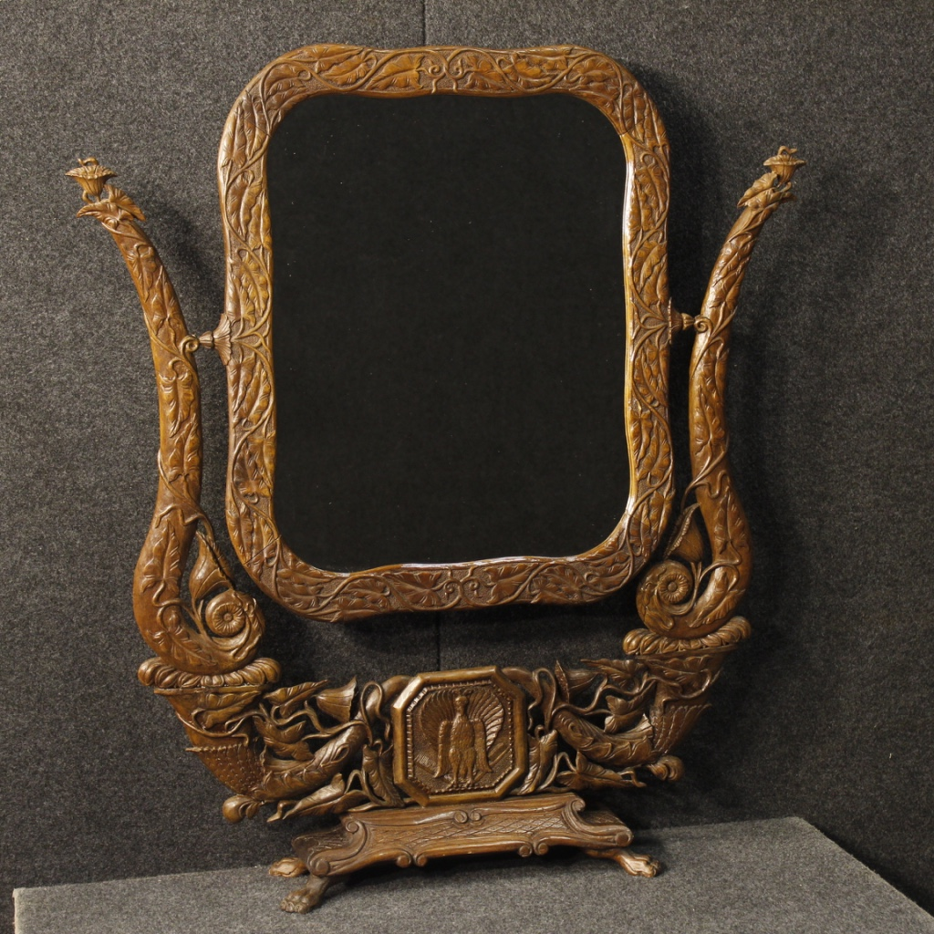 French cheval mirror in Art Nouveau style