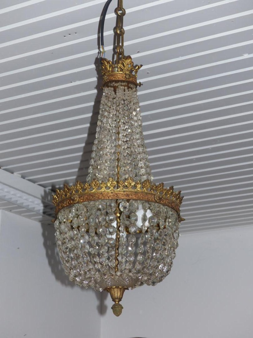 chandelier basket hot air balloon crystal and bronze pendants xix