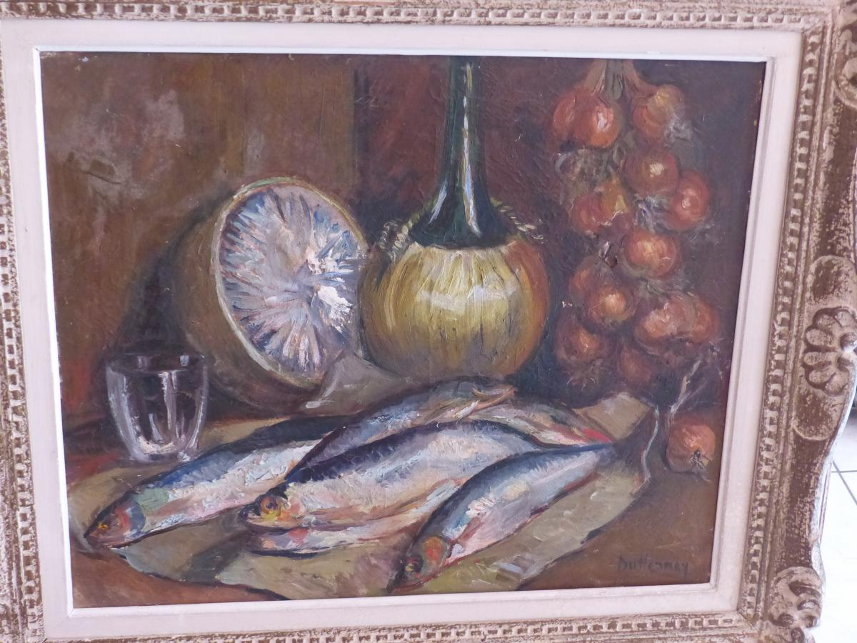 FRAMED OIL ON CANVAS BY BLANCHE DUHENNOY