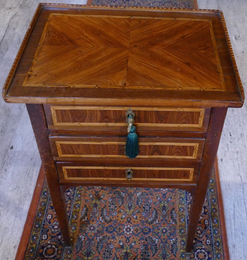 Small bedside inlaid in dresser