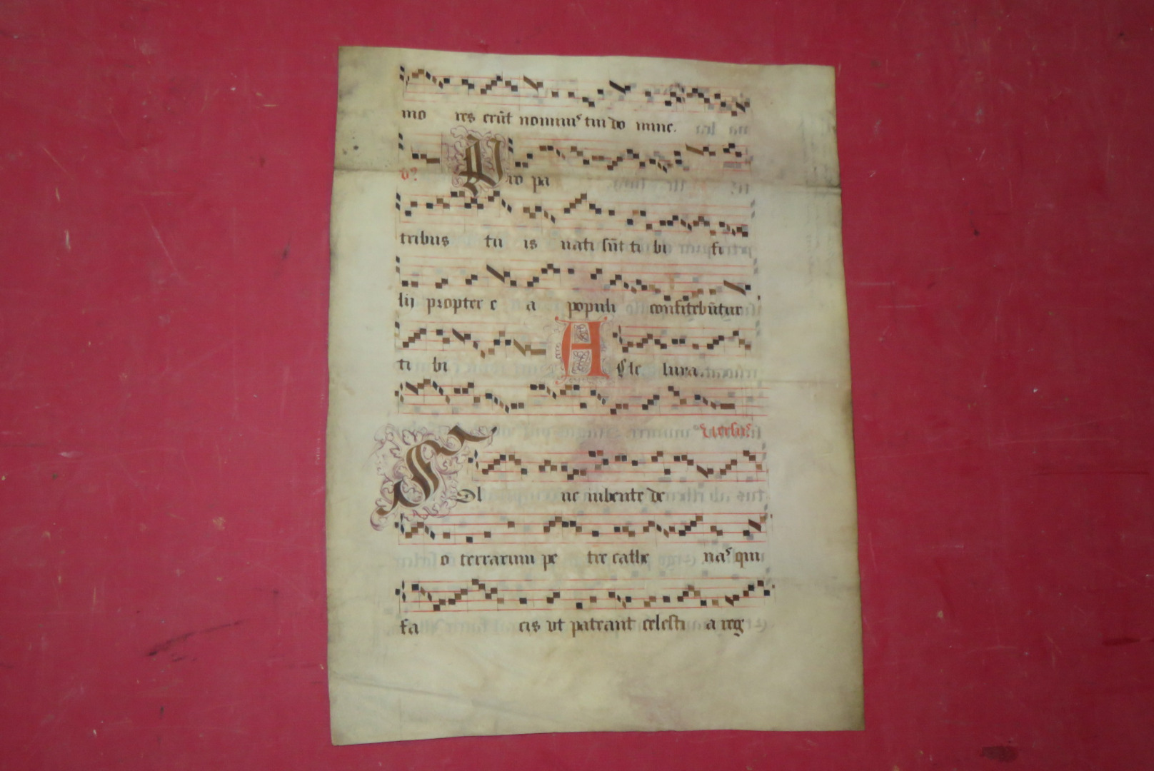 17th CENTURY ANTIPHONARY PAGE