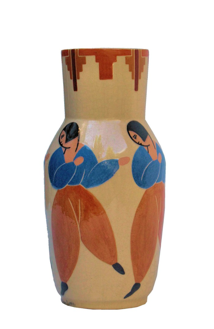 ART DECO PERIOD VASE BY Simone Larrieu