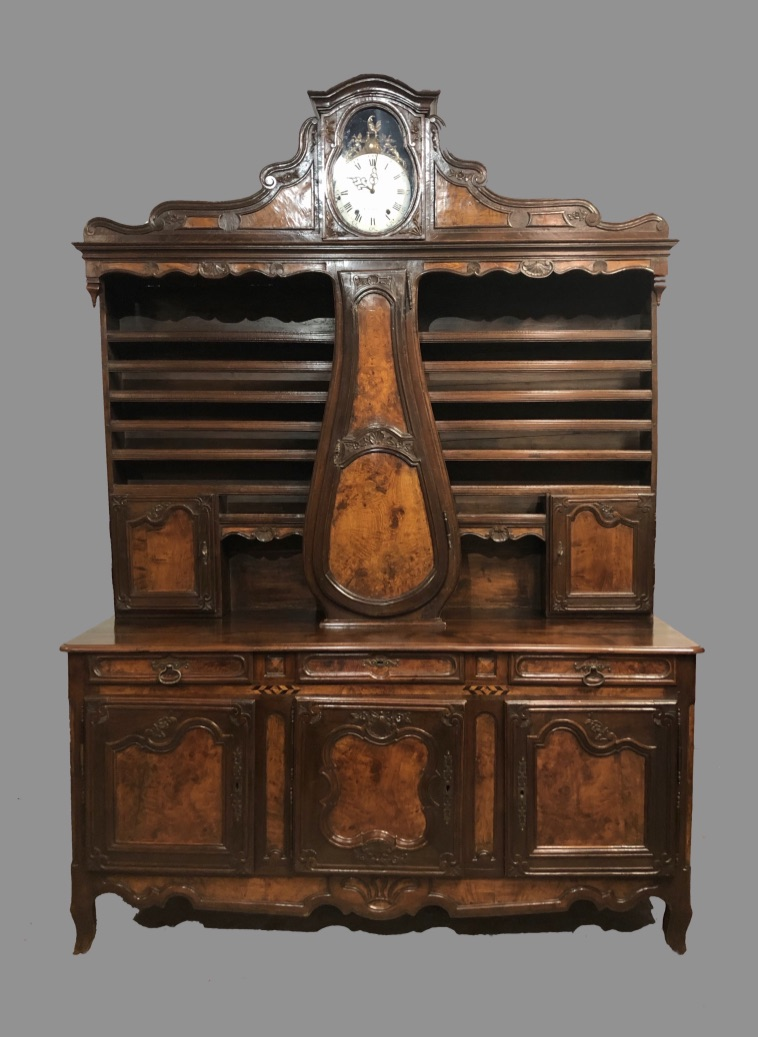 18th CENTURY BUFFET WITH CLOCK