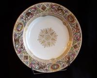 Plate service of Louis Philippe hunting chateau of Fontainebleau. Sevres 1844.