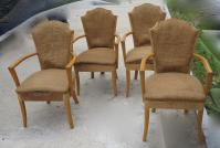 4 art deco armchairs