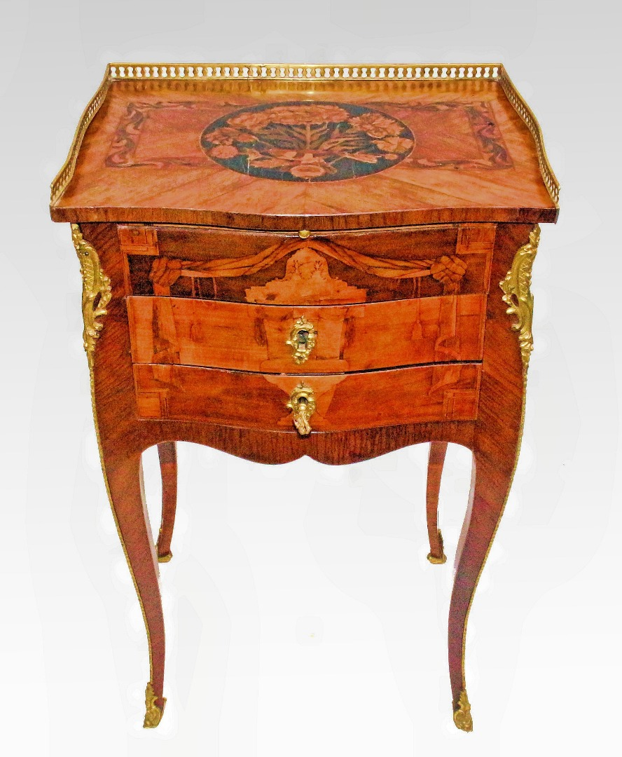 LOUIS XV PERIOD TABLE ATTRIBUTED TO J-F OEBEN