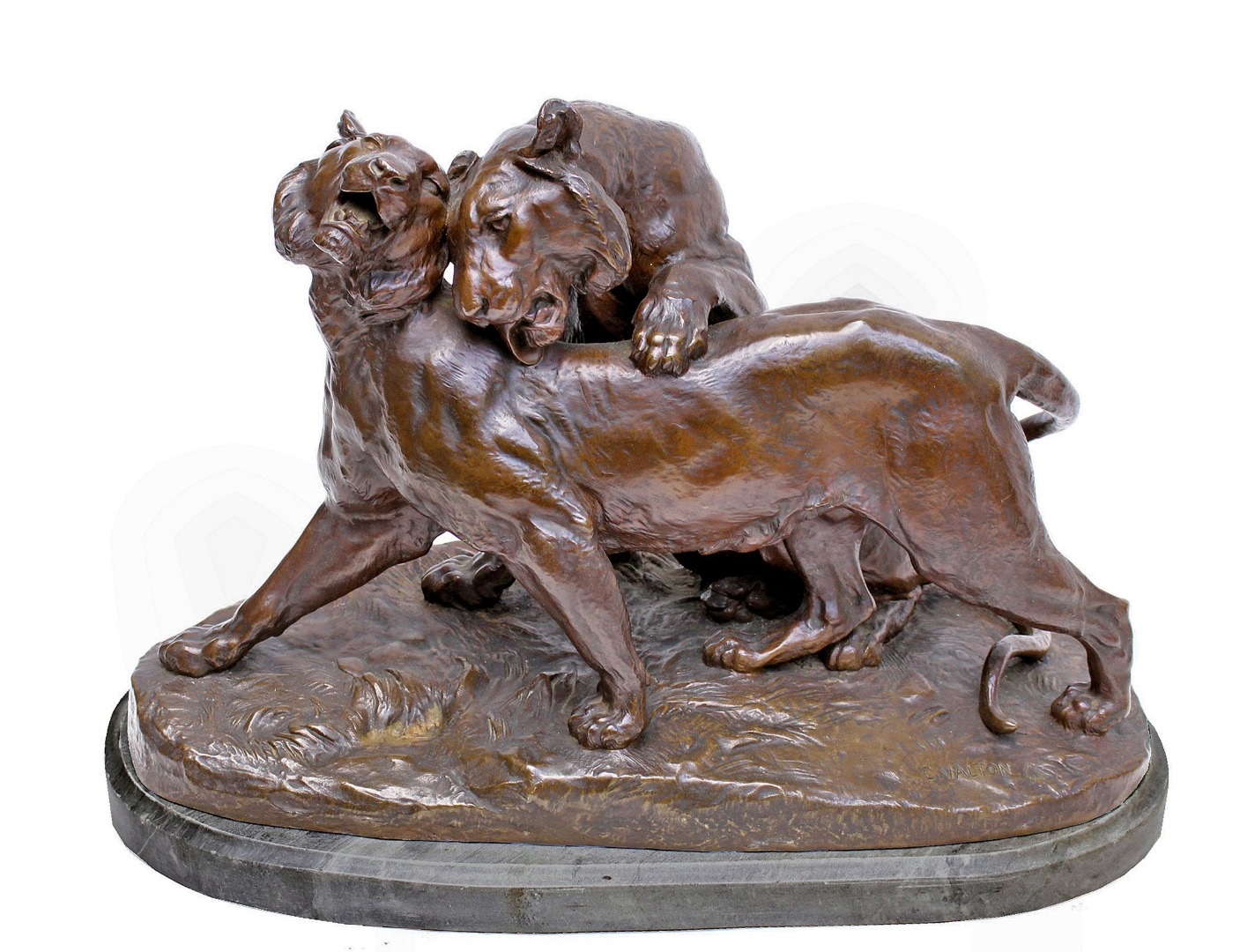 BRONZE GROUP by Charles Valton (1851-1918)