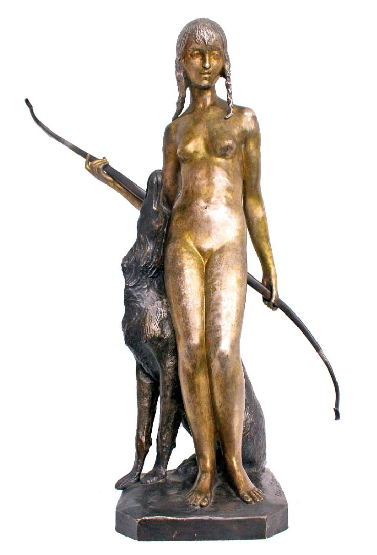 ART DECO PERIOD BRONZE by Ary Bitter (1883-1973)