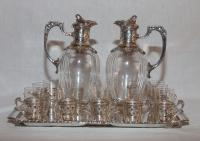 SILVER PLATE AND CRYSTAL LIQUOR SERVICE