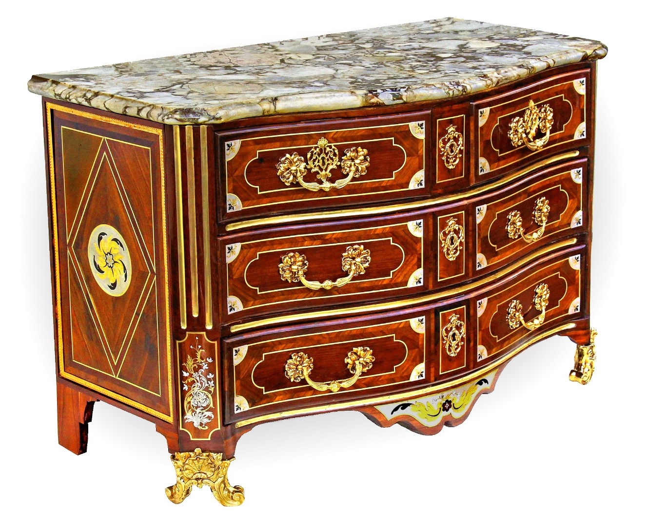 LOUIS XIV PERIOD CHEST OF DRAWERS signed J L F DELORME