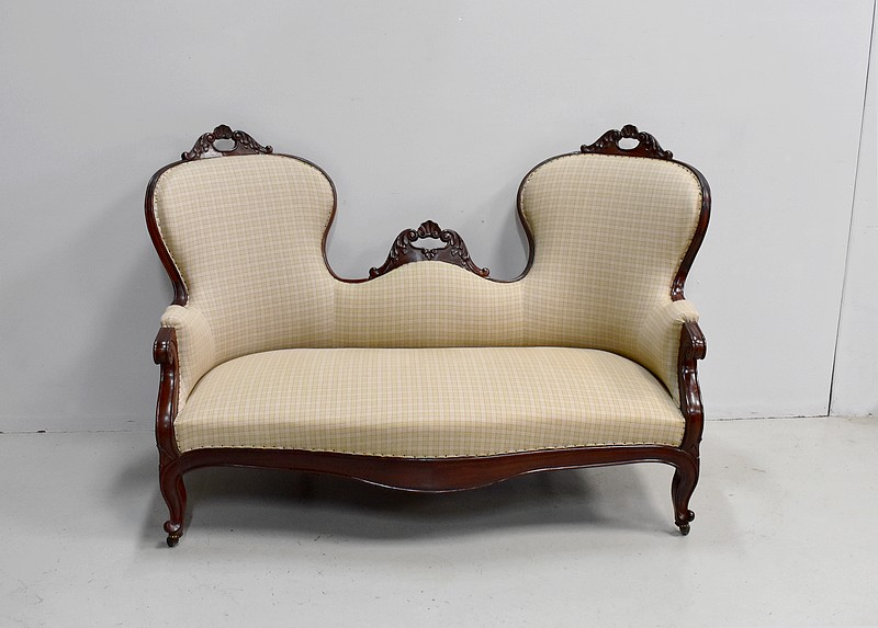 Napoléon III wing sofa - 19th century