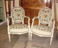 Pair of armchairs of Louis XVI period. 18th C