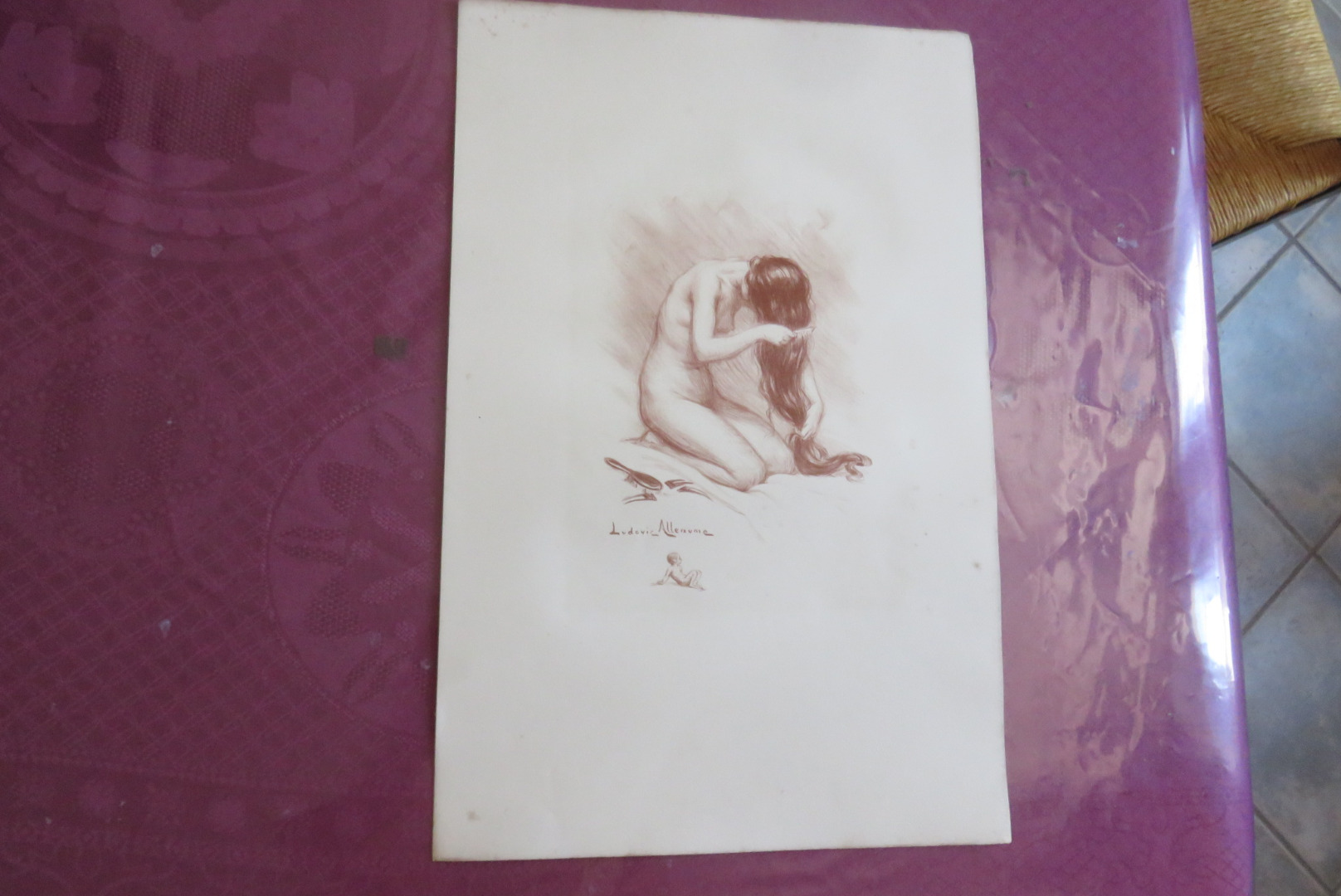 LITHOGRAPHY SIGNED LUDOVIC ALLEAUME