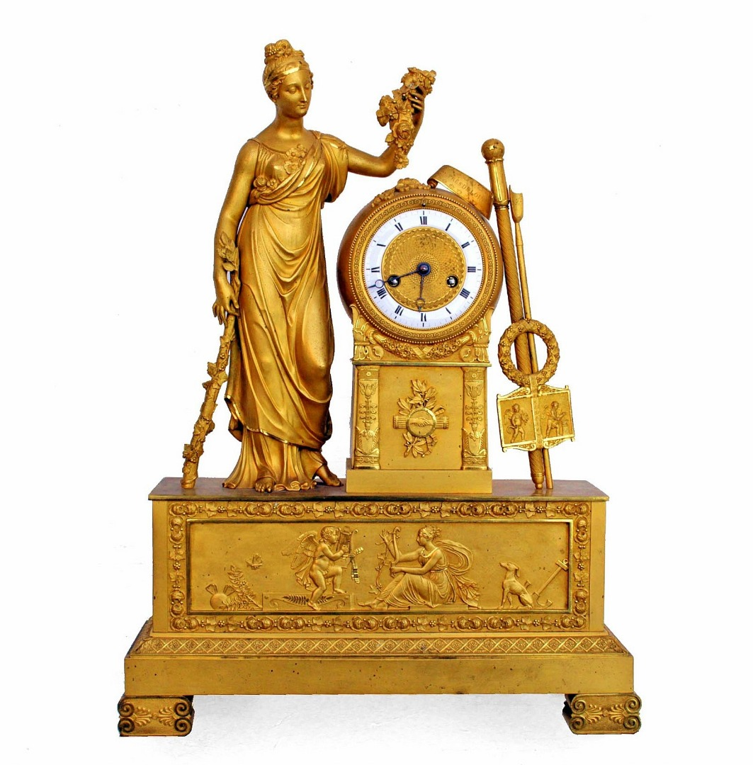 FRENCH EMPIRE PERIOD CLOCK