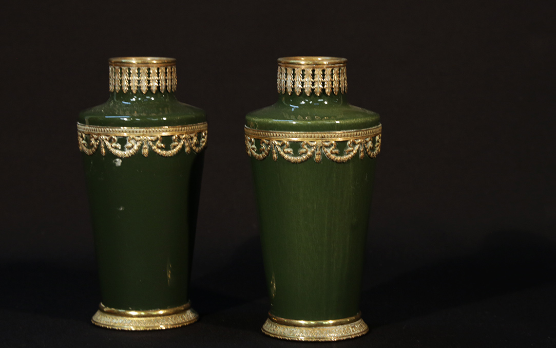 Pair of 1st Empire Earthenware vases