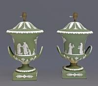 PAIR OF WEDGWOOD PORCELAIN LAMPS