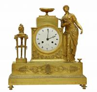 EMPIRE PERIOD CLOCK SIGNED  LEROY