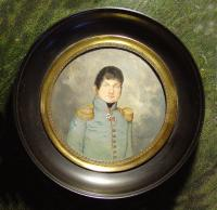 Empire Portrait miniature F.Dumont