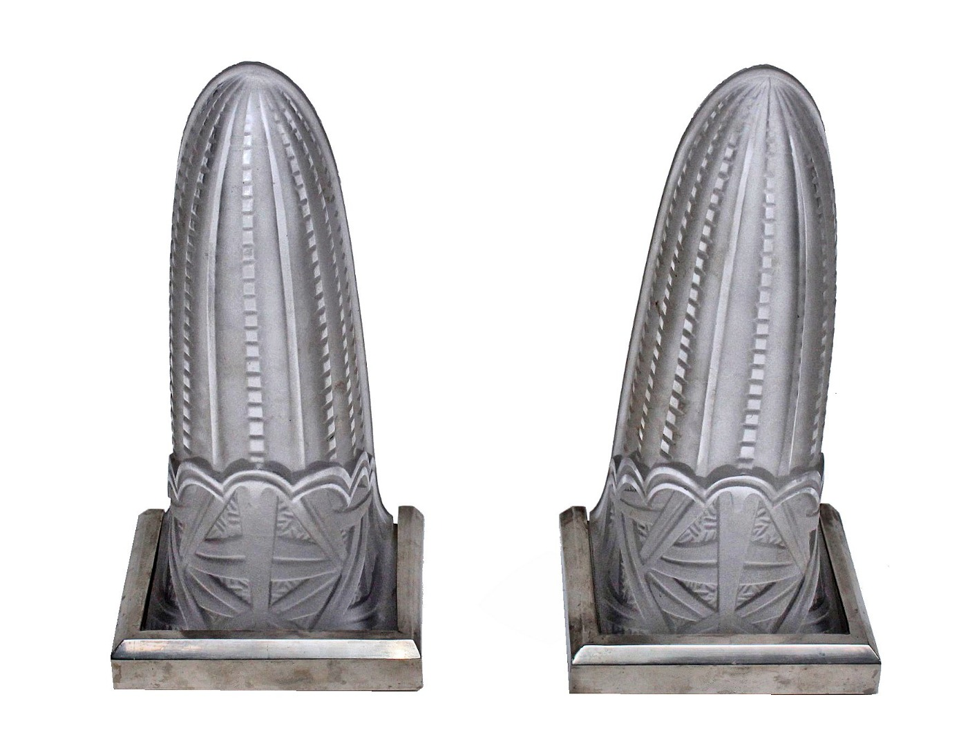 PAIR OF ART DECO PERIOD WALL LIGHTS