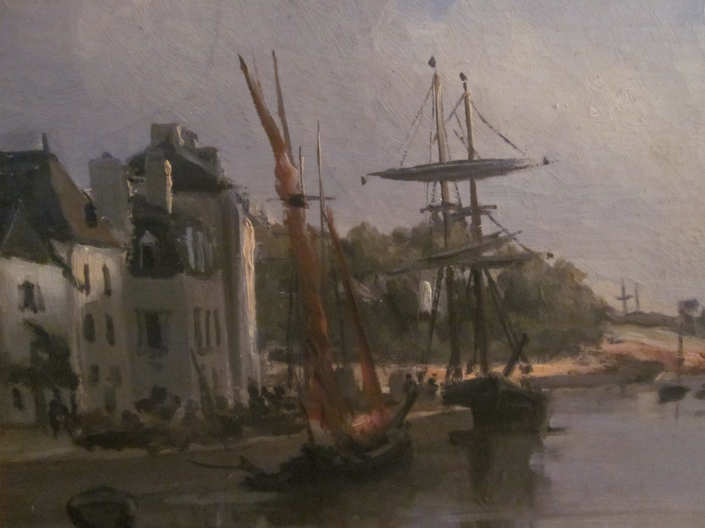 OIL ON CANVAS OF SAINT GOUSTAN, AURAY