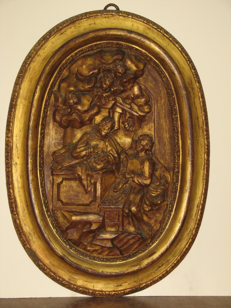 18th CENTURE CARVED GILTWOOD RELIGIOUS SCENE