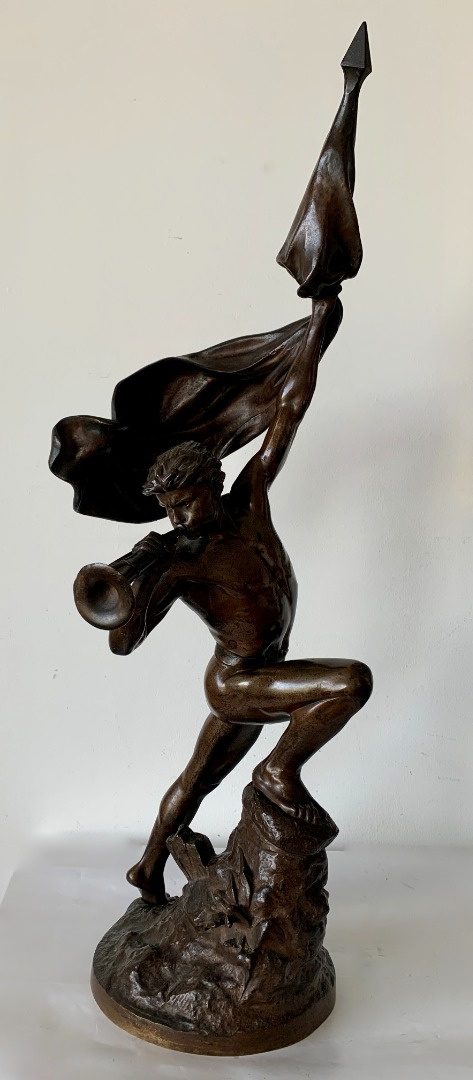 BRONZE SCULPTURE signed E DROUOT