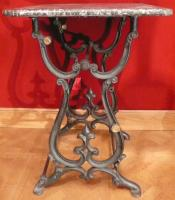 BAKER TABLE OLD 19Th CENTURY IRON FORGED
