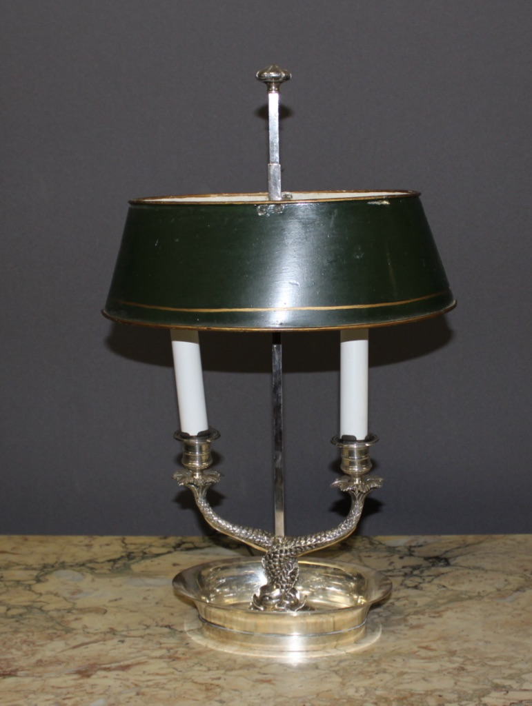 Lamp In Silvered Bronze