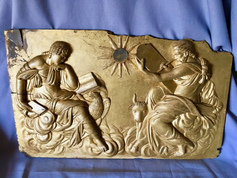 CARVED AND GILDED WOOD PANEL