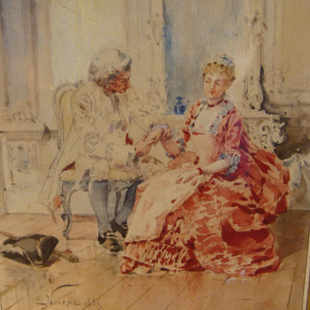 WATERCOLOUR DATED 1883