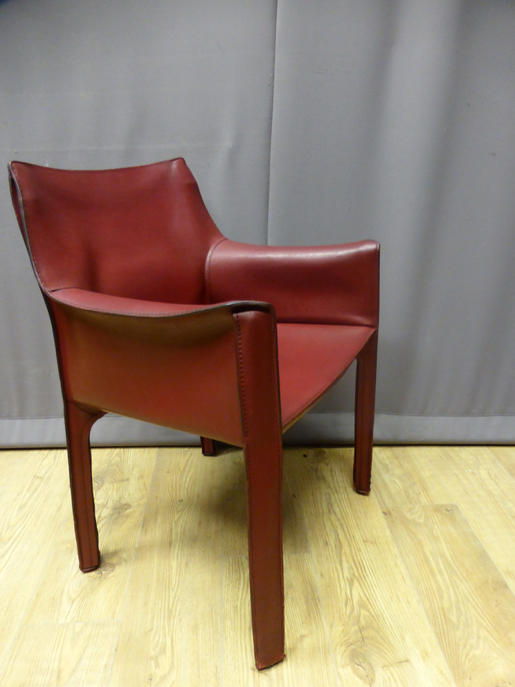 LEATHER ARMCHAIR BY MARIO BELLINI