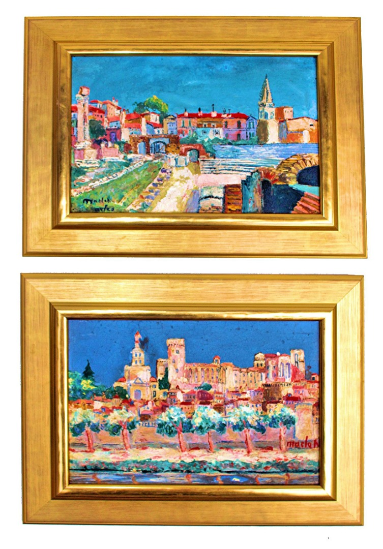 PAIR OF OIL ON PANELS signed Elisée Maclet (1881-1962)