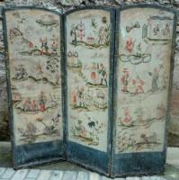 "Screen sets the ""chineses"" and floral - Period 18th century"