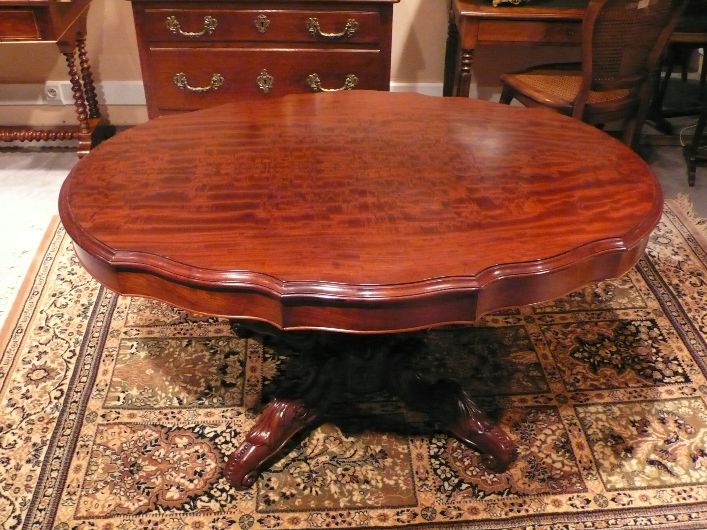 NAPOLEON III PERIOD PEDESTAL TABLE