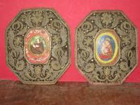 PAIR OF 17th C RELIQUARY FRAMES