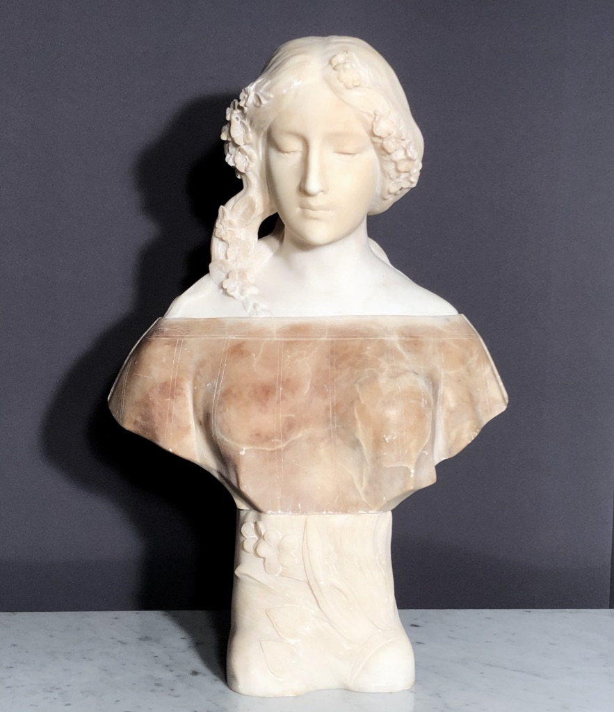 MARBLE SCULPTURE SIGNED GORY