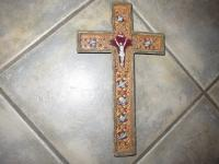 19th C RELIQUARY CRUCIFIX