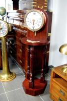 Ship's engine room telegraph mahogany A Metayer circa 1900