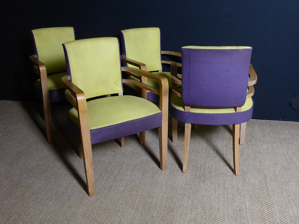 FOUR FRENCH ARMCHAIRS