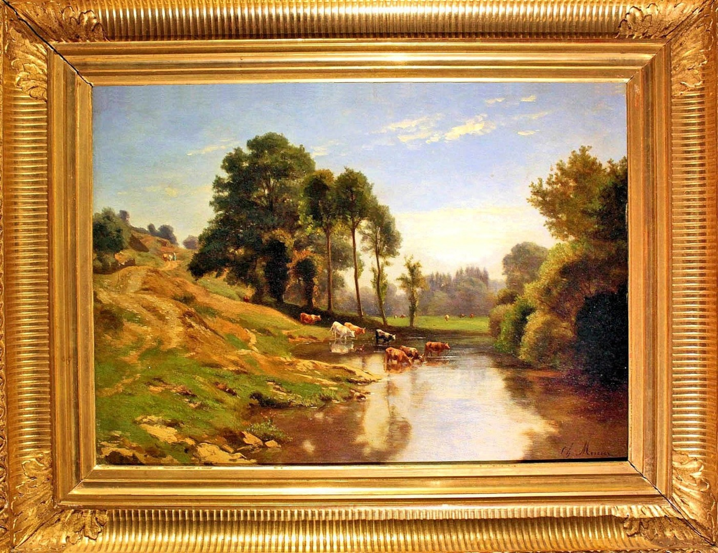 OIL ON PANEL signed by  Charles Mercier