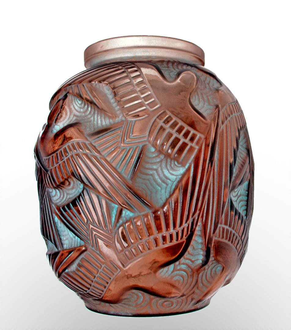 ART DECO PERIOD VASE by Pierre D'Avesn