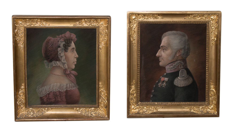 PAIR OF FRENCH RESTAURATION PERIOD PORTRAITS