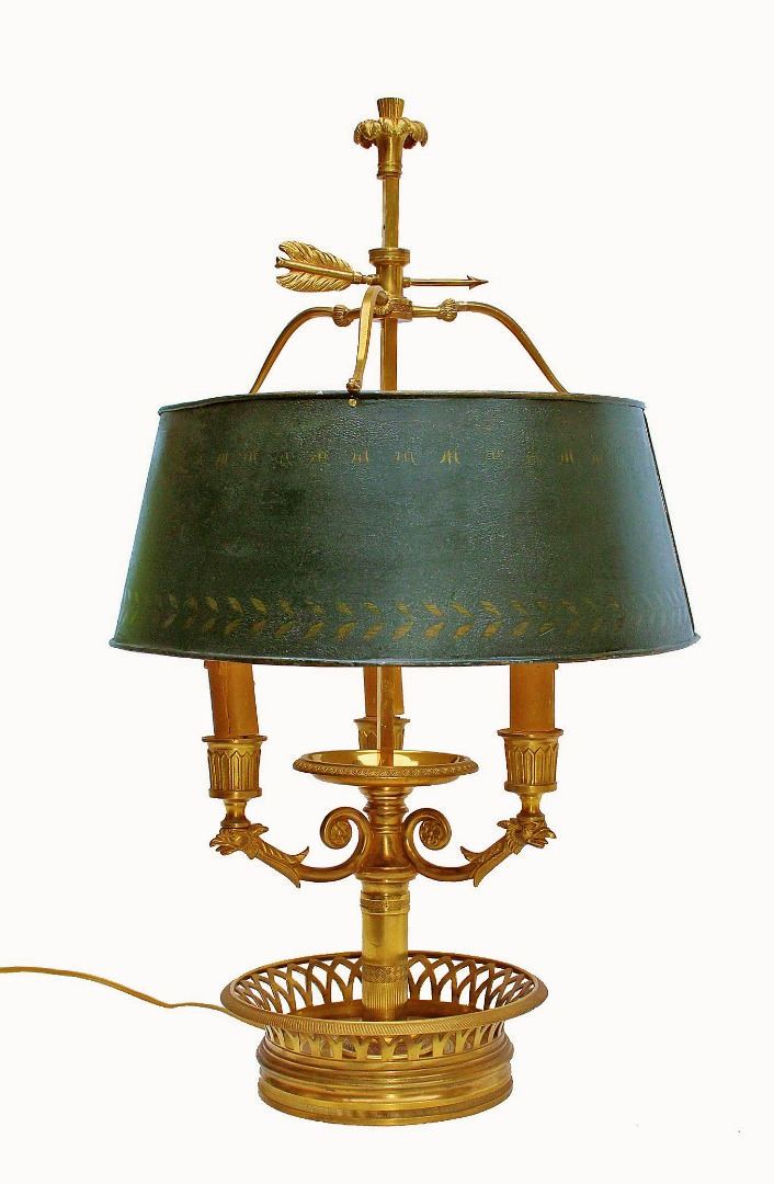 FRENCH DIRECTOIRE STYLE BOUILLOTTE LAMP
