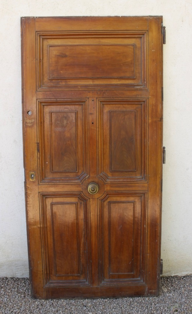 Entrance Door In Walnut XIX