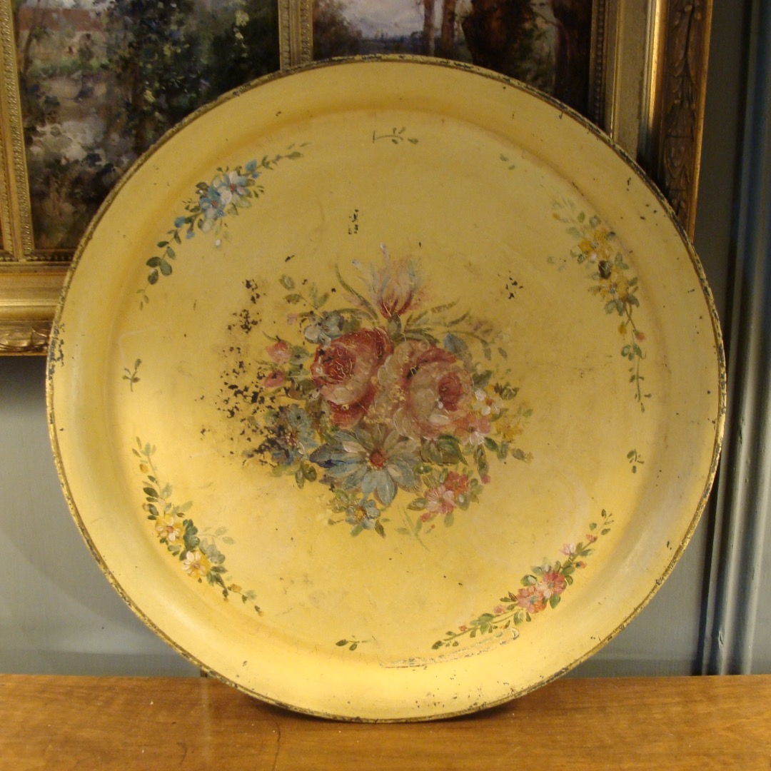 19th CENTURY TIN TRAY