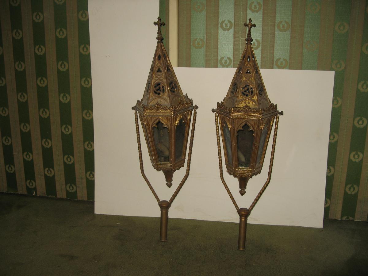 PAIR OF 18th C PROCESSION LANTERNS