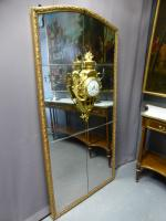 LOUIS XVI PERIOD MIRROR WITH CLOCK