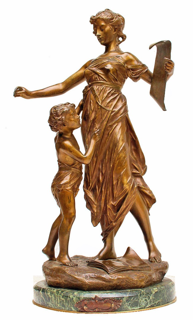 BRONZE SCULPTURE by Edouard DROUOT (1859-1945)