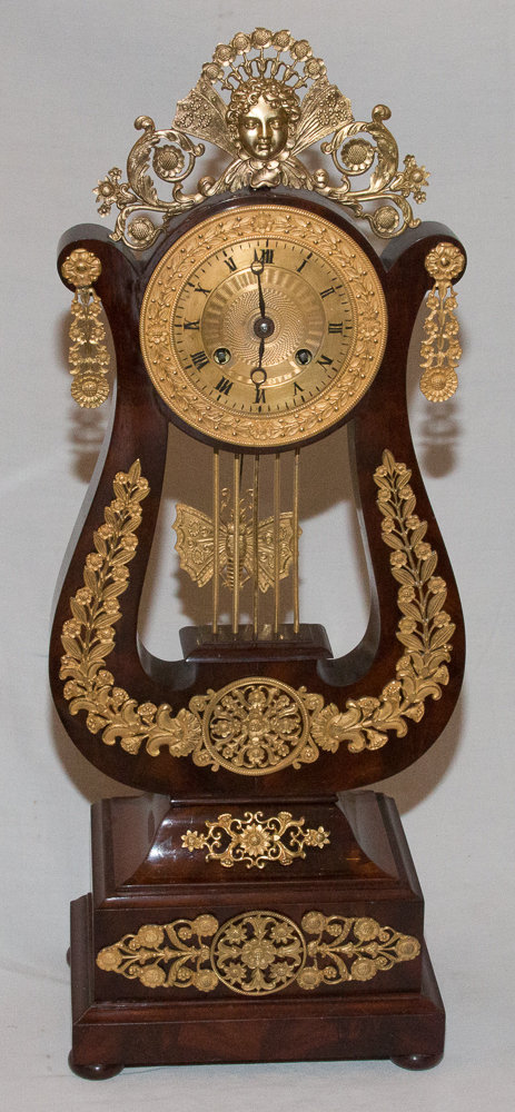 FRENCH RESTAURATION PERIOD CLOCK